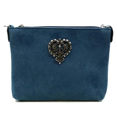 5_Wildledertasche Herzform blau