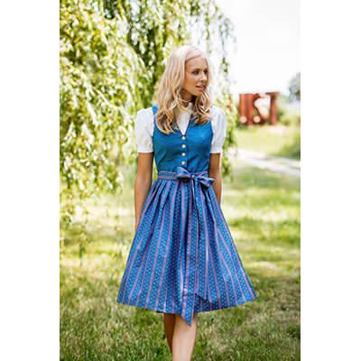 Look Marietta - Dirndl Marietta in blau
