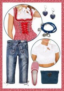 Alternative zum Dirndl - Trachtenmieder und Jeans
