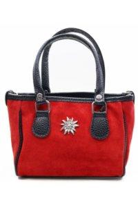 Trachtentasche Wildleder rot