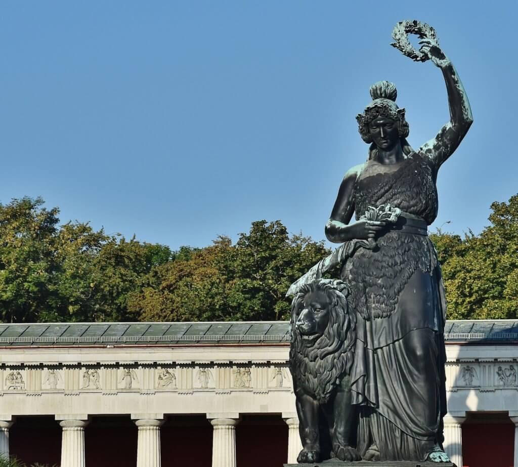 Bavaria Statue auf Theresienwiese in München